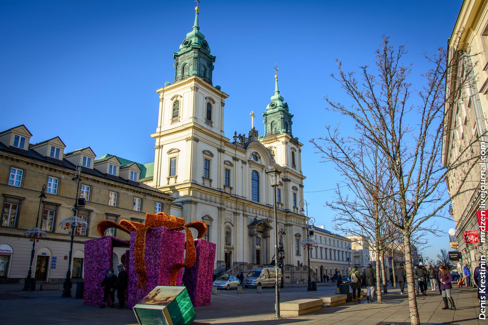 Варшава. Костел Святого Креста.