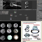 Diamond Ring Blender 3D