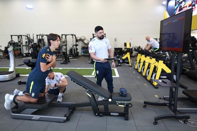 Testes físicos da Seleção Brasileira no novo Centro de Excelência da Granja Comary - Créditos:  Lucas Figueiredo/CBF