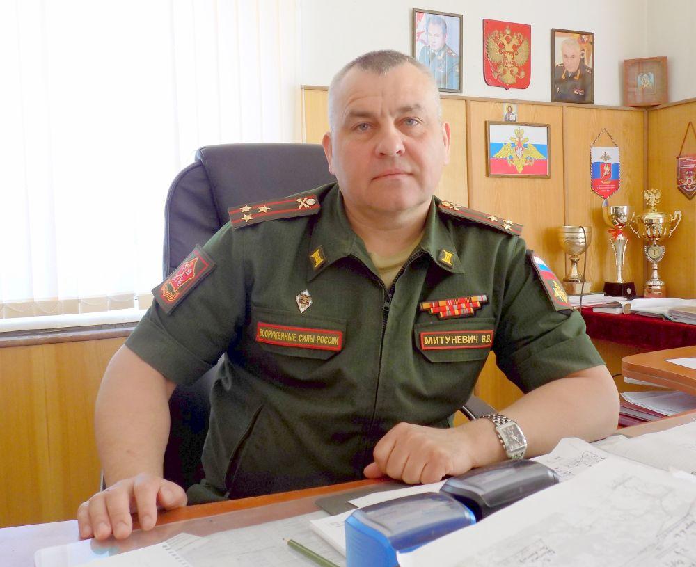 Военный комиссар г.Ярцево и Ярцевского района полковник Валерий Митуневич