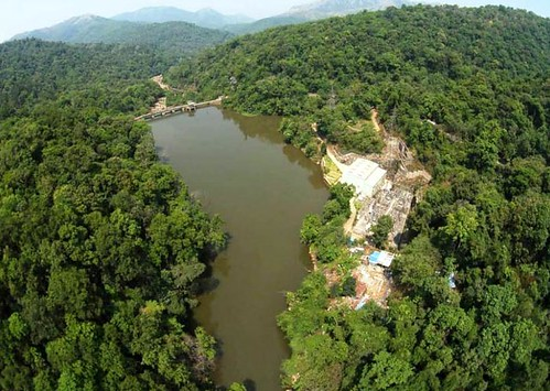 पश्चिमी घाट में स्थित एक लघु जलविद्युत परियोजना