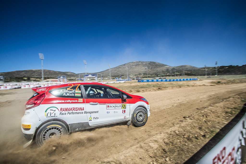 27 GHOSH Amittrajit (ind), NAIK Ashwin (ind),  Ford fiesta R2, action during the European Rally Championship 2018 - Acropolis Rally Of Grece, June 1 to 3 at Lamia - Photo Gregory Lenormand / DPPI