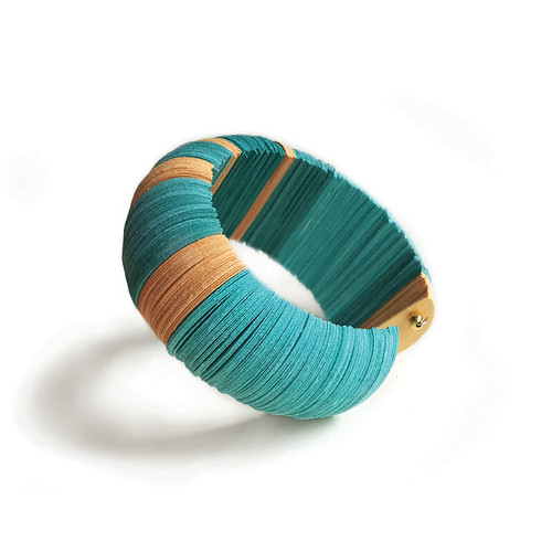 Modern Paper Bangle Bracelet by Alfieri Jewel Design
