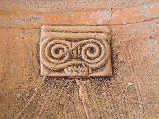Stempel einer Amphore im Museum Oppidum d'Ensérune
