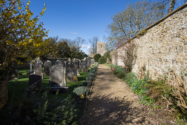 Loders Churchyard in April