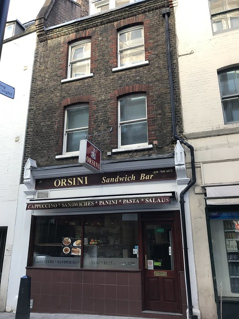 Orsini Sandwich Bar,  London