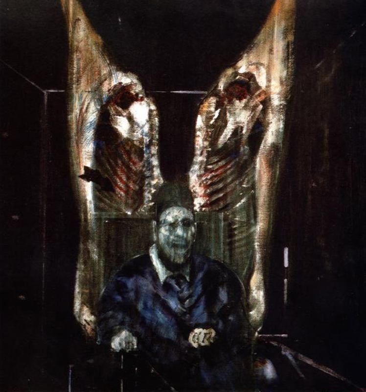 Francis Bacon, Figure with Meat, 1954