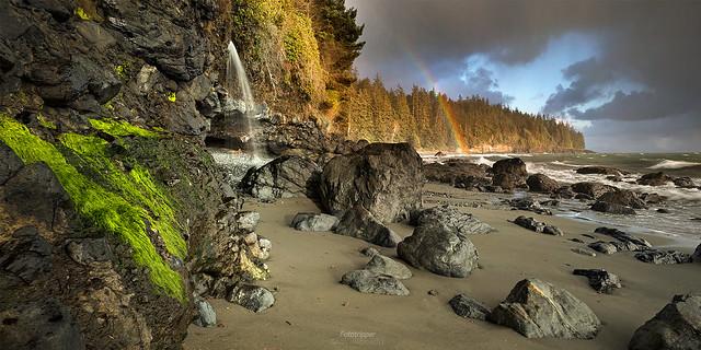 'Waterfalls & Rainbows' - Mystic Beach, Vancouver Island