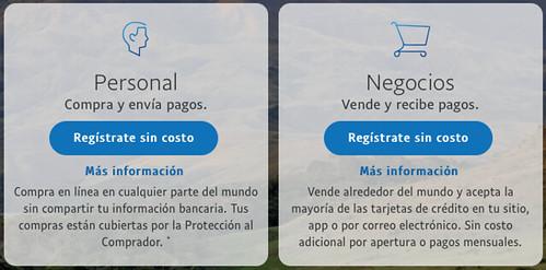 Tipos de cuenta PayPal
