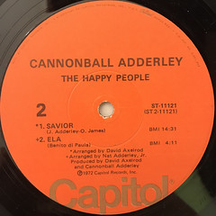 THE CANNONBALL ADDERLEY QUINTET:THE HAPPY PEOPLE(LABEL SIDE-B)