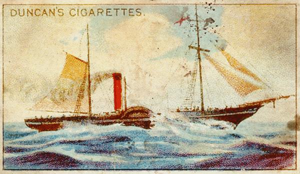 Cigarette card showing the Irish Royal William (1837)