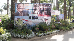 Elections campaigning at Egypt's Spring Flowers Show 2018
