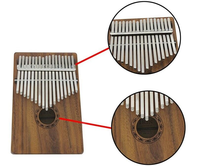 ammoon 17キーカリンバ ポケット親指ピアノ ソリッドアカシア 楽器ギフト 初心者の音楽愛好家用 (4)