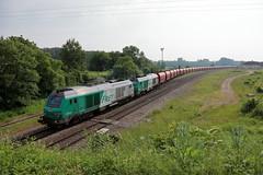 Le convoi s'engage sur la ligne 4 à Gouaix - Photo of Grisy-sur-Seine