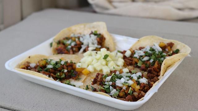 Al Pastor Tacos from Taqueria El Gordo & La Flaca Taco Truck in Des Moines Iowa