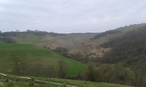 Devil's Dyke from the viewpoint above Poynings