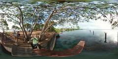 """Paredão"" in Ilha Solteira's dam. Ilha Solteira, SP, Brazil. 360 ° / equirectangular photo."