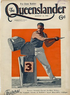 Illustrated front cover from The Queenslander, August 15, 1935