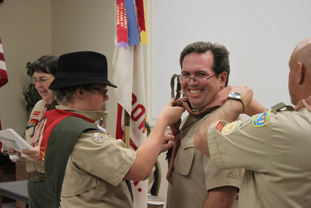 2018-04-16 Dana Collins earns Wood Badge