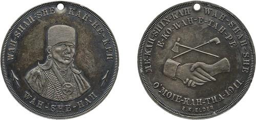 1911 Chief Wah-She-Hah Medal
