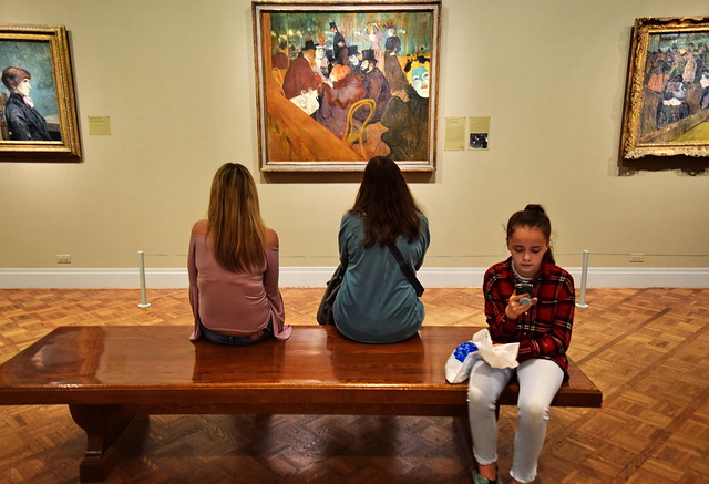 Girl in the Lautrec Gallery, Art Institute of Chicago, 2018