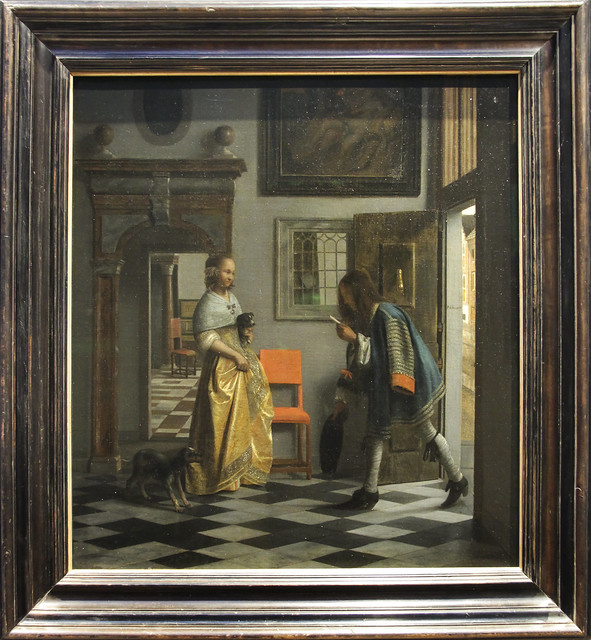 The Messenger of Love, Pieter de Hooch,c.1670