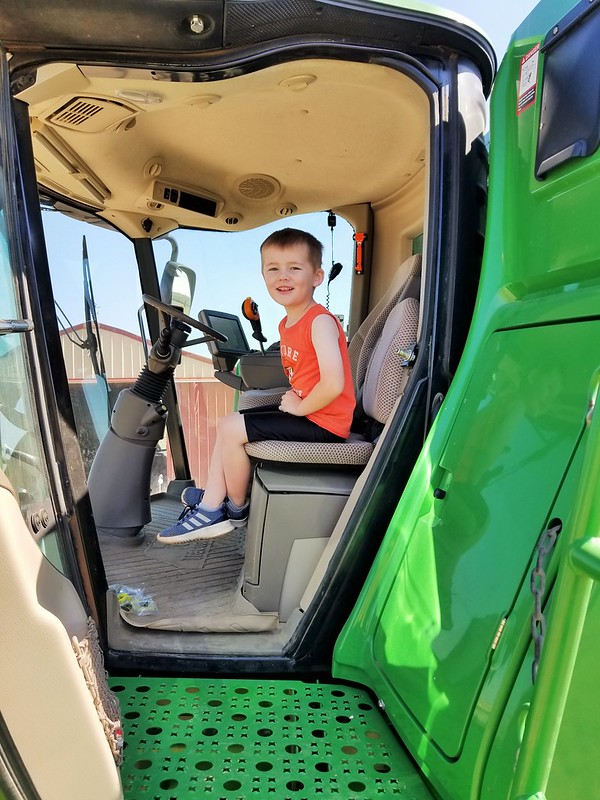 Mason is excited to get those combines going!