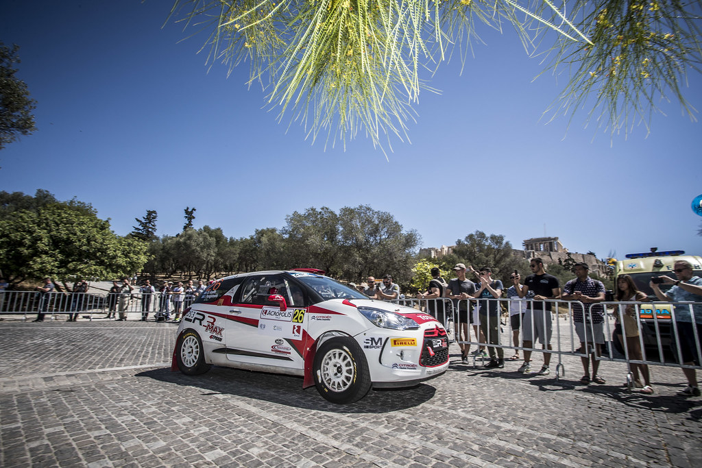 26 KARELLIS Chrysostomos (grc), PANAYIOTOUNIS  Elias (grc), Citroen DS3 R3T, action during the European Rally Championship 2018 - Acropolis Rally Of Grece, June 1 to 3 at Lamia - Photo Gregory Lenormand / DPPI