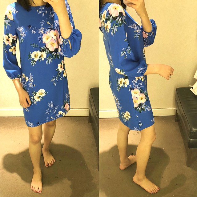 Ann Taylor Poppy Lantern Sleeve Dress, size 00P