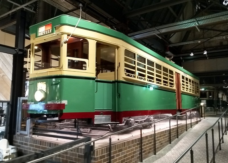 Restored tram at TramSheds (formerly Rozelle tram depot), Sydney