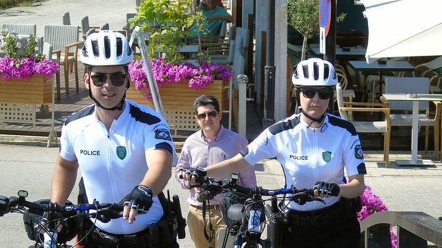 Παρουσίαση της δράσης των αστυνομικών με ποδήλατα στην Λευκάδα