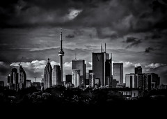 Toronto Skyline From The Pape Ave Bridge No 2
