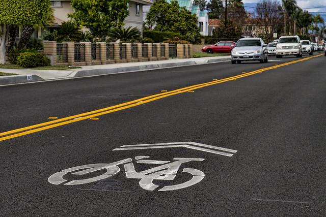 Bike lane in Downey