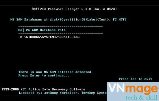 đăng nhập máy tính khi quên mật khẩu