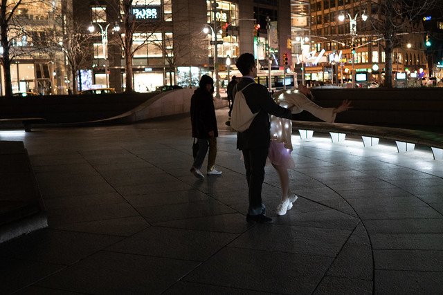Ballet Dancers at Columbus Circle