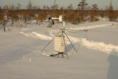 A weather station under snow