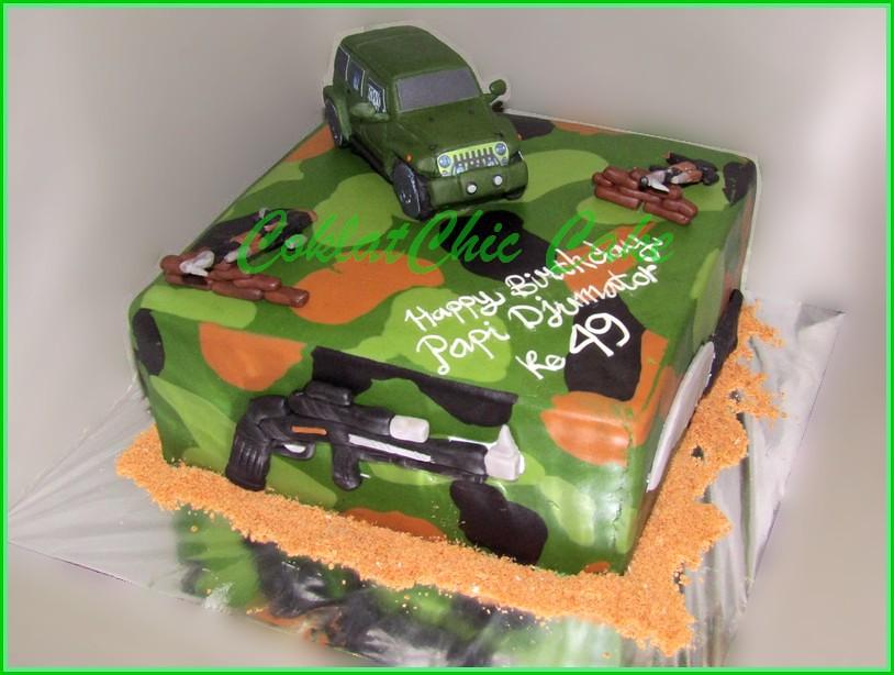 Cake ARMY Papi Djumator 22 cm