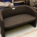 2 seater charcoal tub sofa E195
