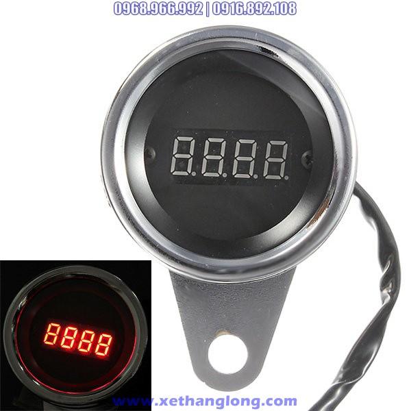Đồng hồ báo tua LED đỏ