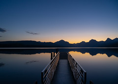 Sunrise Lake McDonald Dock