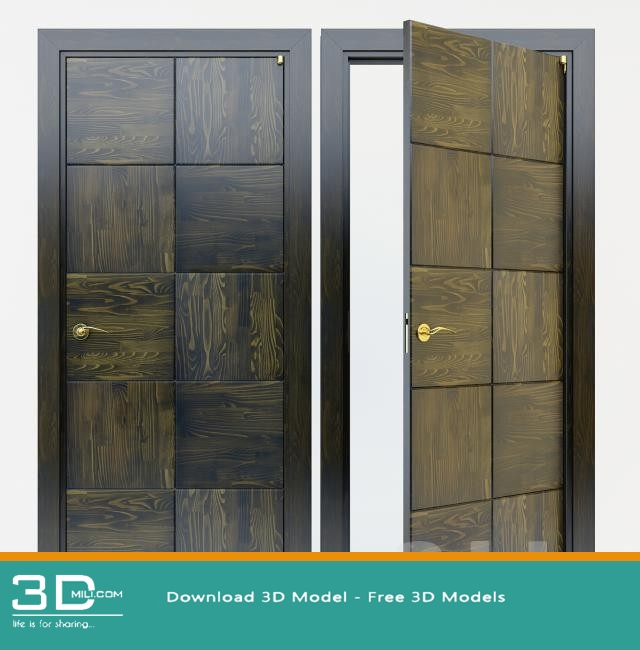 148  Doors 3dsmax Model Free Download - 3D Mili - Download