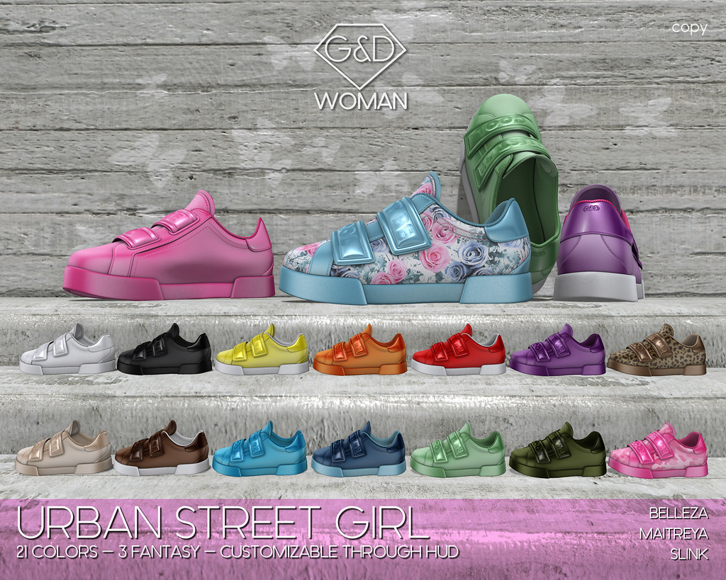 G&D Sneakers Urban Street Girl adv
