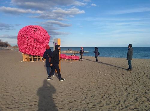 Pussy Hat (1) #toronto #winterstations #beaches #woodbinebeach #pussyhat #publicart #latergram