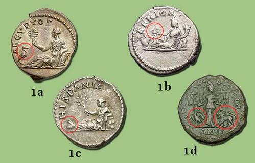 Anumals representing provinces on Roman coins