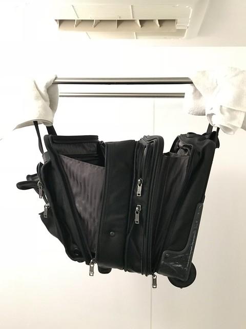 TUMIバッグを水洗い