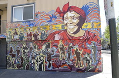 """Professor Wangari Maathai"", Haight @ Pierce, Lower Haight (Artists: Kate Decicco, Delvin Kenobe)"
