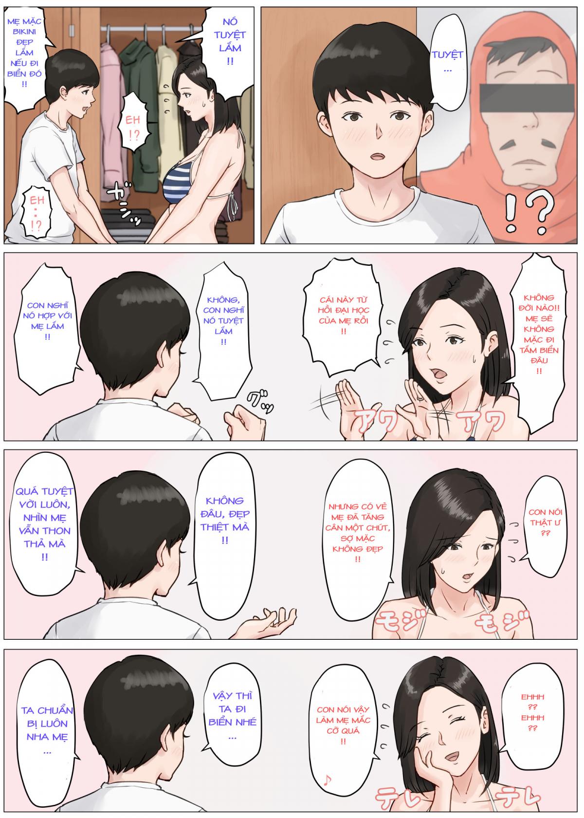 Hình ảnh  trong bài viết Truyện hentai Kaa-san Janakya Dame Nanda!! 3 ~Natsuyasumi Zenpen