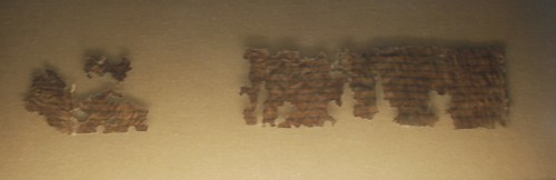 Tohorot Dead Sea Scroll Fragment. From History Comes Alive at the Denver Museum of History and Science