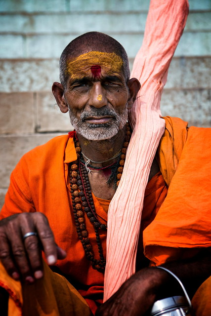 Sadhu On The Varanasi Ghats