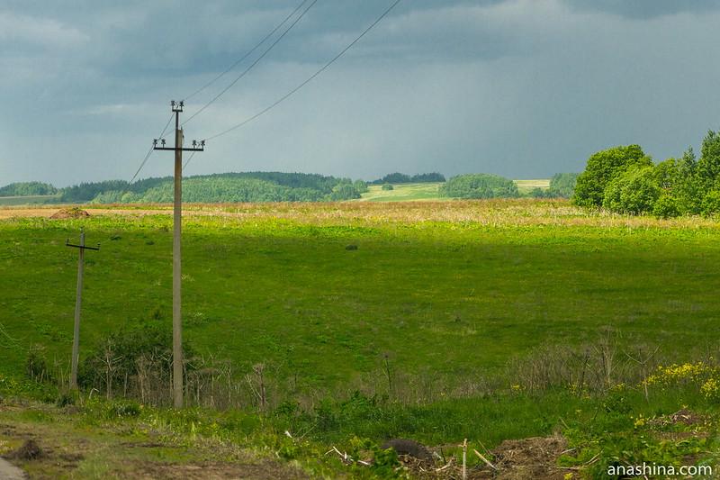 Придорожный пейзаж, Владимирское ополье